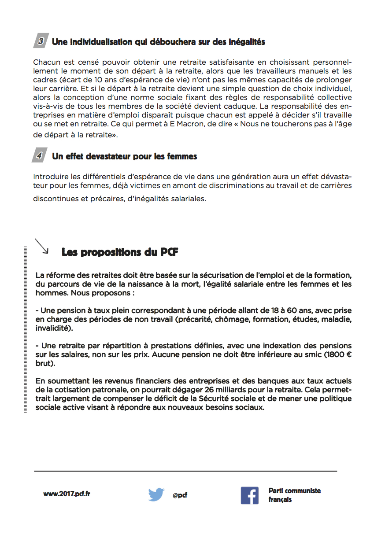 Tract La Reforme Macron Met En Danger Nos Retraites Pcf 28