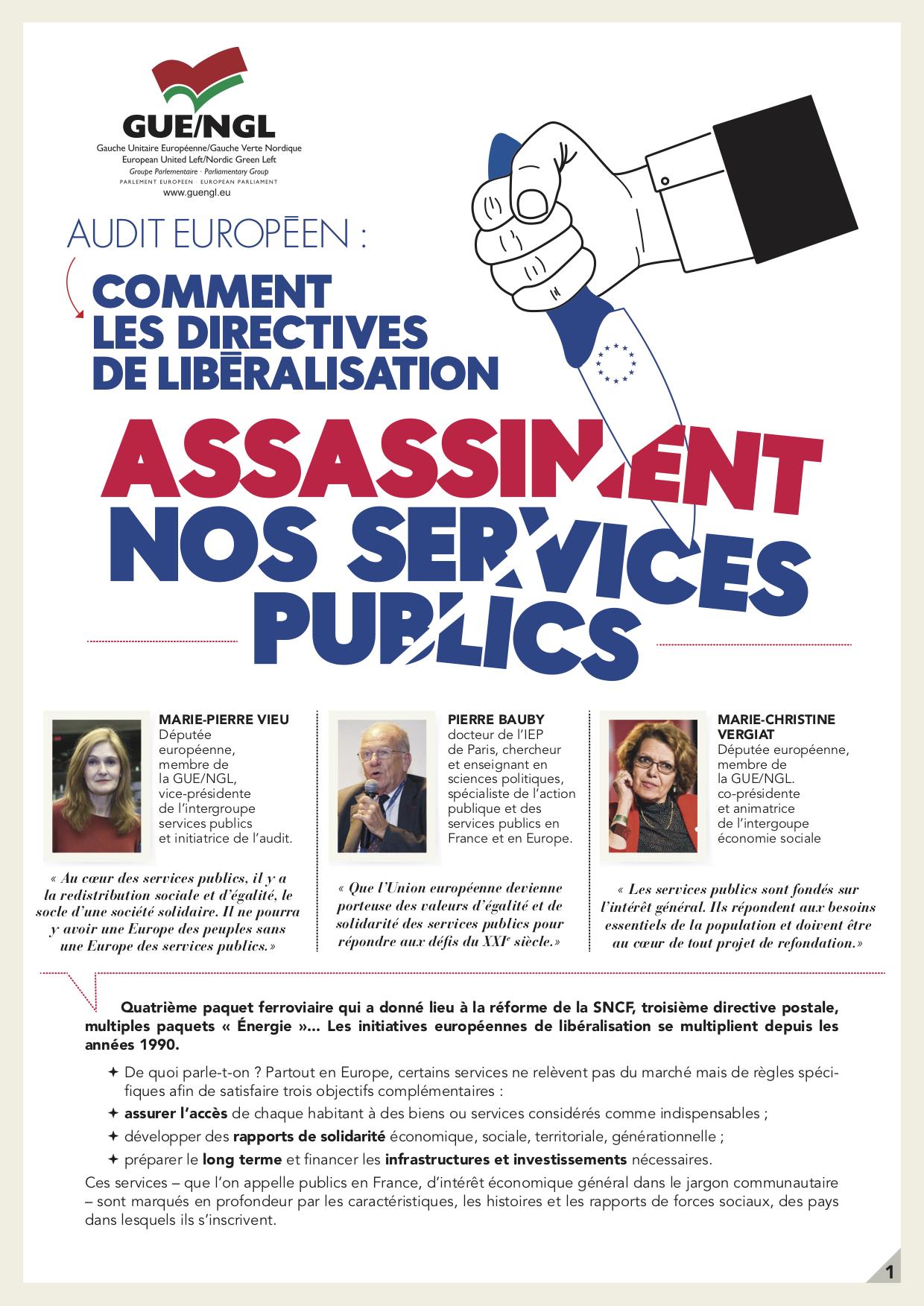 service public libéralisé en france exemple