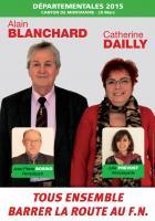 Affiche de campagne d'Alain Blanchard et Catherine Dailly - 2nd tour des élections départementales, canton de Montataire