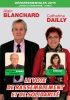 Circulaire d'Alain Blanchard et Catherine Dailly - 2nd tour des élections départementales, canton de Montataire, 29 mars 2015