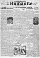 Centenaire du PCF, au jour le jour : L'Humanité du samedi 23 octobre 1920
