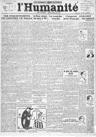 Centenaire du PCF, au jour le jour : L'Humanité du lundi 25 octobre 1920