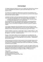 Thierry Aury - Communiqué de presse concernant la grève des salariés de Cabaro-Véolia - Beauvais, 21 mars 2012
