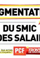 Affichette pour une augmentation du Smic et des salaires - Été 2012