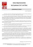 Commémoration des convois des 45 000 et des 31 000 - Réaction de l'UD CGT - Compiègne, 7 juillet 2012