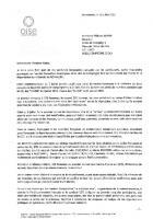 Courrier d'Alain Blanchard au maire de Compiègne Philippe Marini après les incidents de la commémoration du 7 juillet - 10 juillet 2012