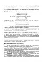 La faute au coût du capital et non au coût du travail - Note d'Yves Dimicoli - 18 juillet 2012