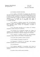 Annulation des opérations électorales des 10 et 17 juin 2012 dans la 2e circonscription de l'Oise - Conseil constitutionnel, 25 janvier 2013