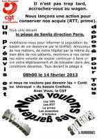 Mobilisation de la CGT contre la casse des hôpitaux-Tract - Senlis, 14 février 2013