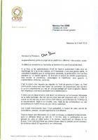 Courrier du groupe communiste au président du Conseil général Rome concernant le découpage de la carte cantonale - 2 avril 2013