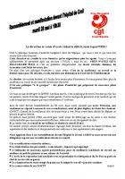 Tract de la CGT Hôpitaux de Creil et de Senlis appelant au rassemblement du 28 mai 2013