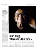 20130719-Libération-Henri Alleg, l'éternelle « Question »