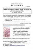 Le lien fraternel des Vétérans du 60 - Octobre 2013