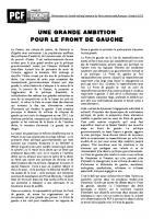 Encart du n° 1300 d'Oise Avenir  « Une grande ambition pour le Front de gauche » - Oise, 6 novembre 2013