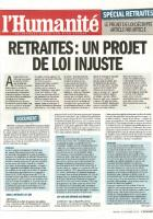 Retraites : un projet de loi injuste - Dossier spécial de l'Humanité du 8 octobre 2013