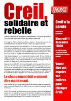 Tract présentant la liste « Creil, solidaire et rebelle » - Creil, 27 novembre 2013