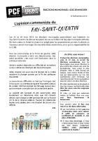 Tract « L'opinion communiste » - Le Fay-Saint-Quentin, 10 décembre 2013