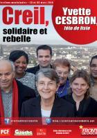 Affiche de campagne de la liste « Creil, solidaire et rebelle » - Creil, 24 décembre 2013