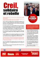 Tract de campagne de la liste « Creil, solidaire et rebelle » - Creil, 31 décembre 2013