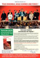 Tract de campagne de la liste « L'humain d'abord » intitulé « Tous ensemble nous sommes une force » - Beauvais, 21 janvier 2014