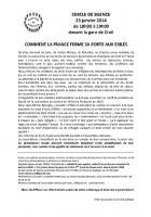Solidarité sans papiers-Cercle de silence-Tract - Creil, 23 janvier 2014