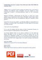 Communiqué de presse de la section de Pont-Sainte-Maxence - 6 février 2014