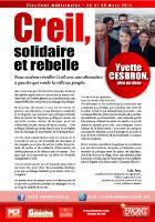 4 pages de campagne de la liste « Creil, solidaire et rebelle » - Creil, 14 février 2014