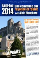 Projet de la liste « Une commune qui rayonne et réunit » - Saint-Leu-d'Esserent, 19 février 2014