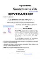 Espace Marx Oise-Conférence-débat « Les extrêmes droites en France et en Europe » avec Bernard Lamirand-Invitation