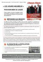 Tract de campagne de la liste « L'humain d'abord » abordant le thème du logement - Crépy-en-Valois, 7 mars 2014
