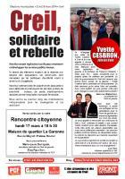 Tract de campagne de la liste « Creil, solidaire et rebelle » sur les services publics - Creil, 5 mars 2014