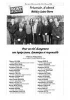 Tract de campagne de la liste « l'humain d'abord » - Béthisy-Saint-Pierre, 6 mars 2014