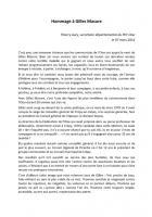 Cérémonie d'hommage à Gilles Masure, intervention de Thierry Aury - Crépy-en-Valois, 7 mars 2014