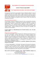 Tract de la CGT Oise pour la journée d'action du 18 mars 2014