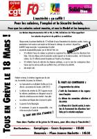 Tract de l'intersyndicale CGT-FO-FSU-Solidaires Oise pour la journée d'action du 18 mars 2014