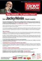 Tract « Déclaration de candidature de Jacky Hénin » - Européennes 2014, circonscription Nord-Ouest, 25 avril 2014