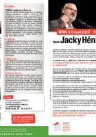 4 pages de la liste Front de gauche conduite par Jacky Hénin - Européennes 2014, circonscription Nord-Ouest, 5 mai 2014