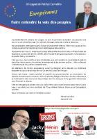 Appel du député-maire Patrice Carvalho à voter Jacky Hénin et la liste Front de gauche aux Européennes - 6e circonscription, 5 mai 2014