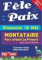 Affiche de la 10e Fête de la Paix à Montataire - Oise, 25 avril 2014