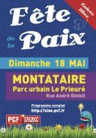Flyer de la 10e Fête de la Paix à Montataire - Oise, 25 avril 2014