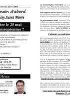 Tract annonçant le débat du Front de gauche le 19 mai « Pourquoi voter le 25 mai aux Européennes ? » - Béthisy-Saint-Pierre, 15 mai 2014