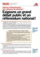 Appel à l'initiative de l'ANECR « Exigeons un grand débat public et un référendum national ! » - Juin 2014