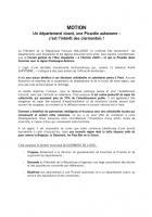 Motion « Un département vivant, une Picardie autonome : c'est l'intérêt des Clermontois » - Conseil municipal de Clermont, groupe communiste, 12 juin 2014