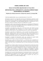 Motion relative à l'efficacité et l'utilité du service public départemental de proximité - Conseil général de l'Oise, groupe communiste (notamment), 19 juin 2014