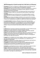 Motion déposée au Conseil municipal de Saint-Leu-d'Esserent - 23 juin 2014