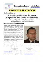 Espace Marx 60-Conférence-débat « Homme, outils, nature, les enjeux d'aujourd'hui pour l'avenir de l'humanité » avec Claude Gindin-Invitation - Clermont, 27 juin 2014
