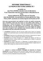 Appel des élus « Réforme territoriale : le peuple doit être consulté ! » - Picardie, 19 juillet 2014