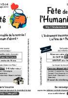 Tract « Vignette et trajet en car pour la Fête de l'Humanité » distribué lors de la Journée à la mer - Oise, 23 août 2014