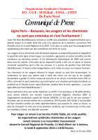 8 septembre, Amiens - Rassemblement concernant la ligne SNCF Paris-Beauvais-CP OS