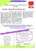 8 septembre, Amiens - Rassemblement concernant la ligne SNCF Paris-Beauvais-Tract-Comité régional CGT de Picardie